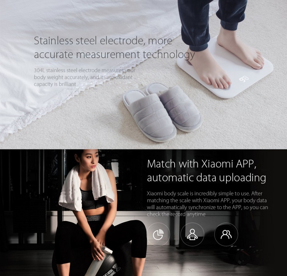 Xiaomi Mi Body Composition Scale 2 Bilancia Smart - Bianca
